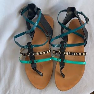 Zara Sandals with ankle straps